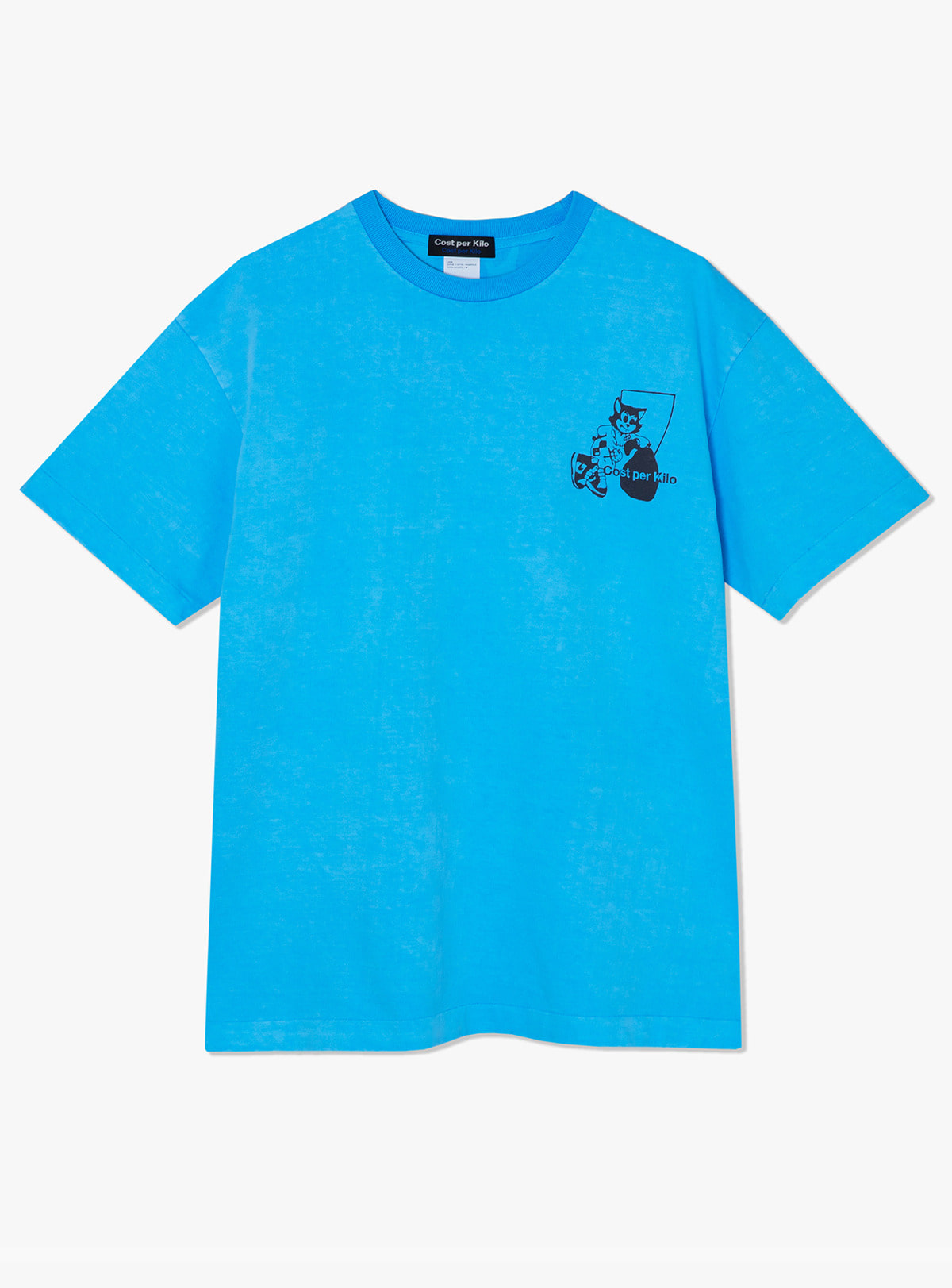 BOOTLEG SACK S/S TEE-POWDER BLUE
